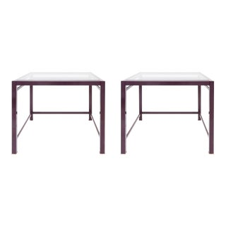Pair of Purple Occasional Side Tables For Sale