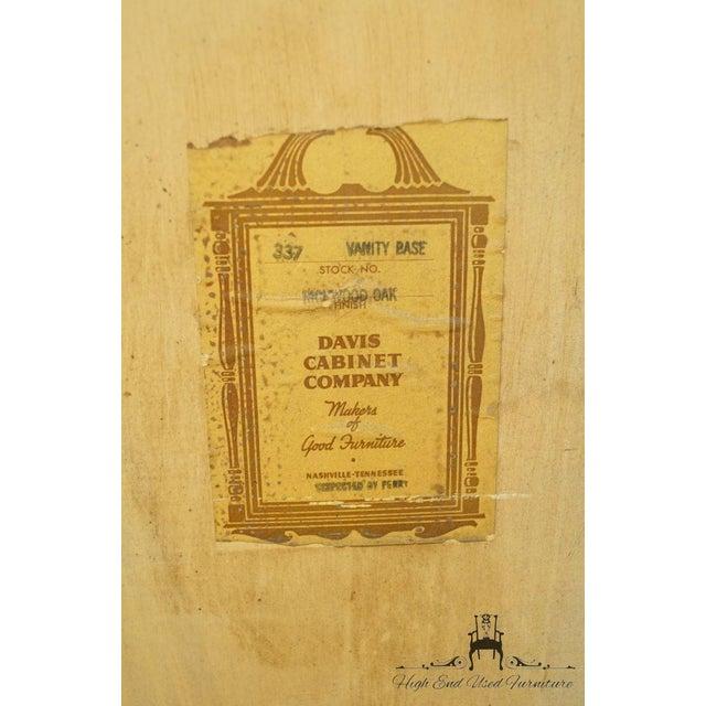 """Davis Cabinet Co. Solid Oak Richwood Finish 48"""" Vanity For Sale - Image 12 of 13"""