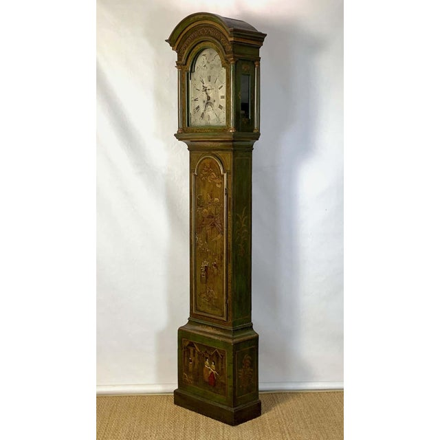 Chinoiserie George III Chinoiserie Decorated Long Case Clock For Sale - Image 3 of 13
