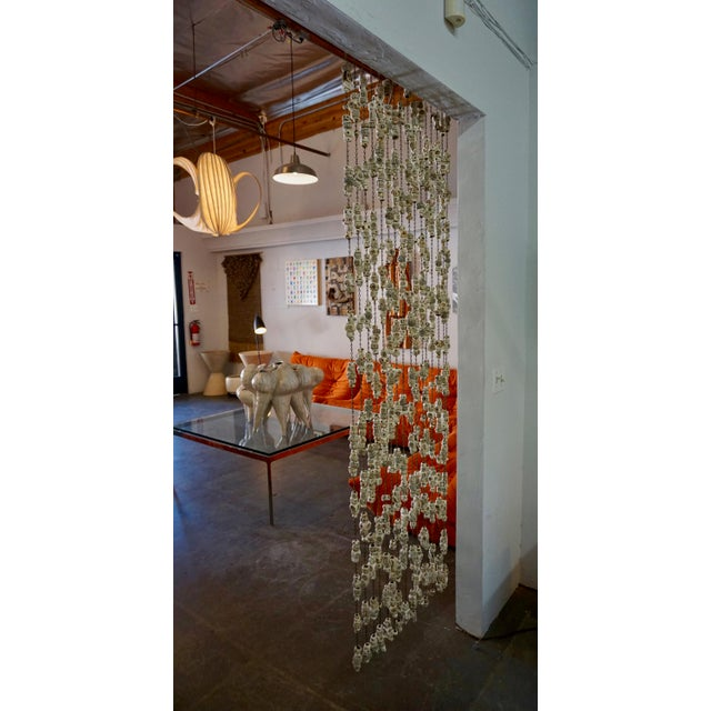 Boho Chic 60's Ceramic Bead Tapestry/Room Divider For Sale - Image 3 of 8