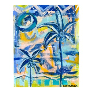 """Palms #18"" Abstract Painting by Christina Longoria For Sale"