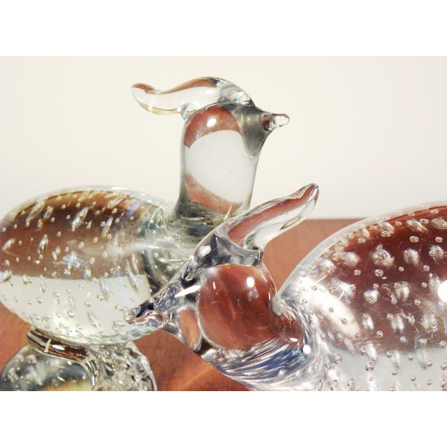 Art Glass Pheasant Figurines - A Pair - Image 5 of 5