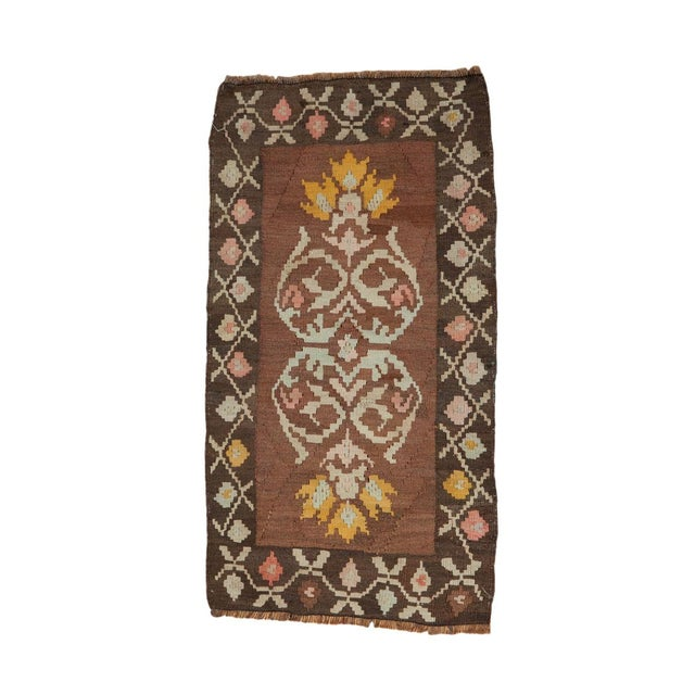 "Vintage Turkish Kilim Runner - 1'7"" x 3'1"" For Sale"