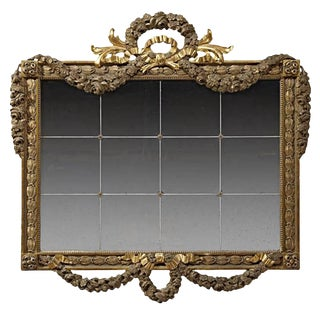 Incredible Italian Neoclassical Style Gilded Mirror, 19th Century For Sale