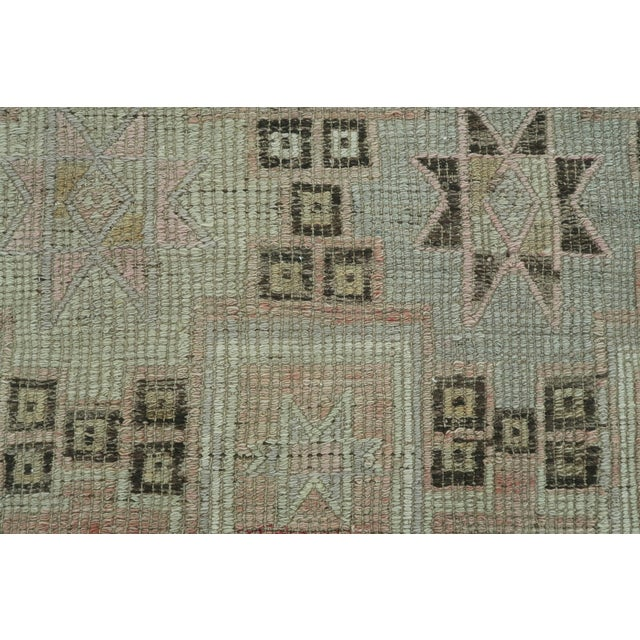 "Brown Vintage Turkish Kilim Rug-5'3'x8'11"" For Sale - Image 8 of 13"
