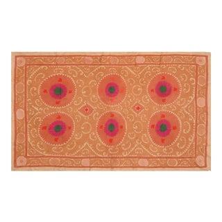Uzbeki Suzani Ivory & Pink Textile- 6'3″x10'4″ For Sale