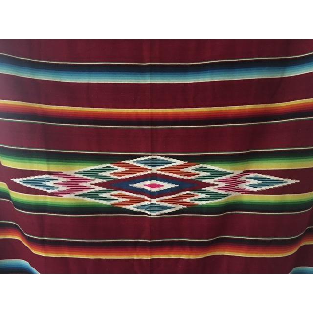 Vintage Mexican Serape Blanket - Image 4 of 6