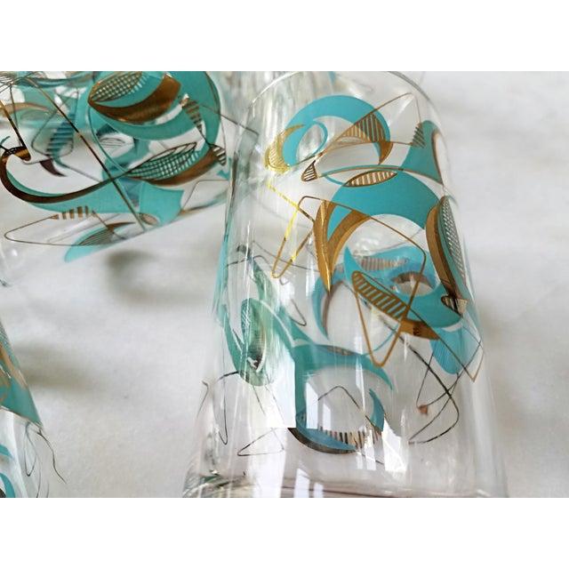 Mid Century Atomic Glasses - Set of 6 - Image 9 of 9