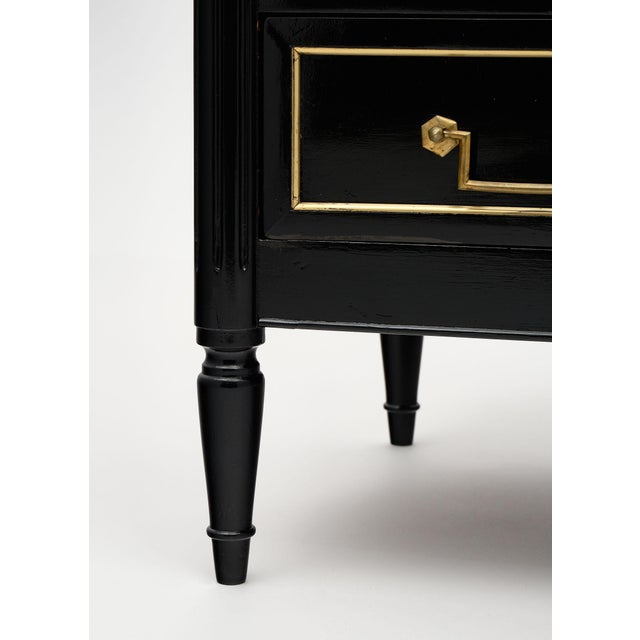 1900 - 1909 Louis XVI Style Ebonized Chest of Drawers For Sale - Image 5 of 10