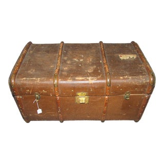 Antique Scottish Bentwood Trunk by Irving Brothers Edinburgh For Sale