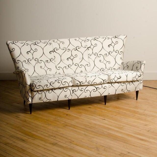 1950s Italian Paolo Buffa Style Sofa For Sale - Image 9 of 11