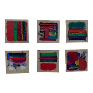 Set 6 Abstract Paintings For Sale