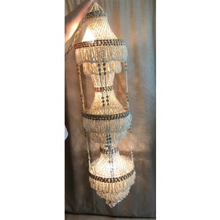 Three Tier Beaded Shell Chandelier - 3 Light Preview