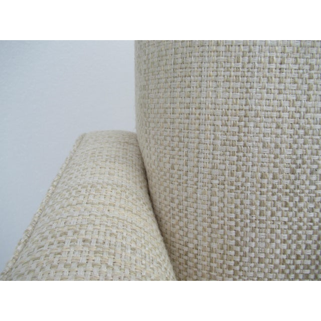 Donghia Ogee Club Chair and Ottoman For Sale - Image 10 of 13