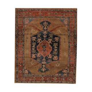 "Vintage Persian Tribal Bakshaish Rug, 8'0"" X 9'6"" For Sale"
