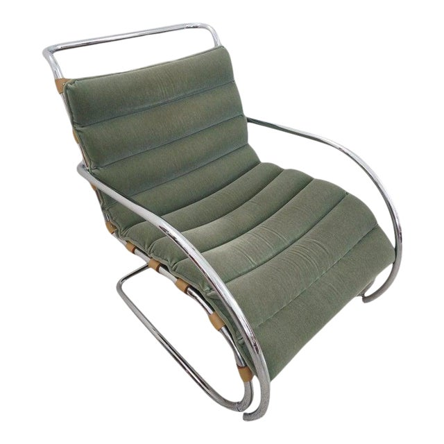 Vintage Art Deco Mies Van Der Rohe Lounge Chair by Gordon International For Sale