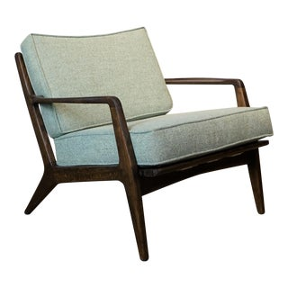 Vintage Mid Century Lawrence Peabody by Selig Lounge Chair For Sale