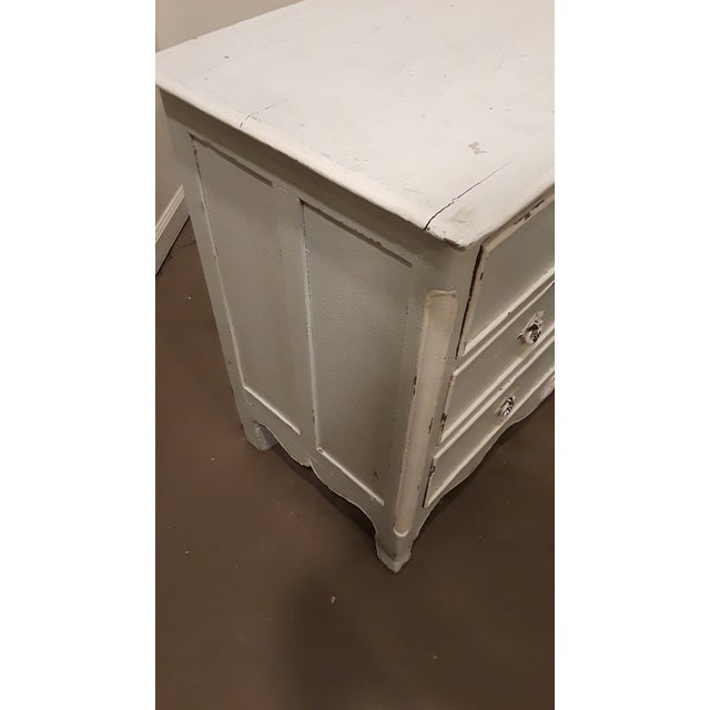 Blue and White Painted French Four Drawer Chest Commode For Sale - Image 5 of 7
