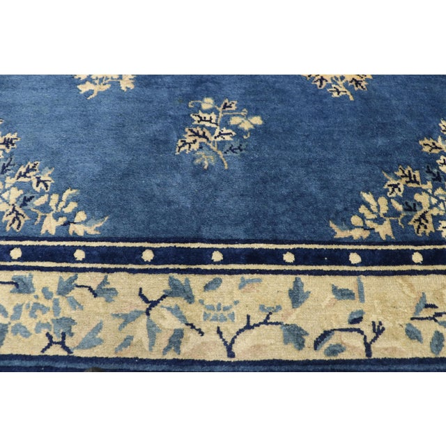 1910s Antique Chinese Peking Rug- 4′1″ × 6′9″ For Sale - Image 4 of 10