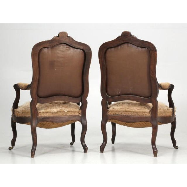 French French Antique Carved Parlor Chairs - Set of 6 For Sale - Image 3 of 12