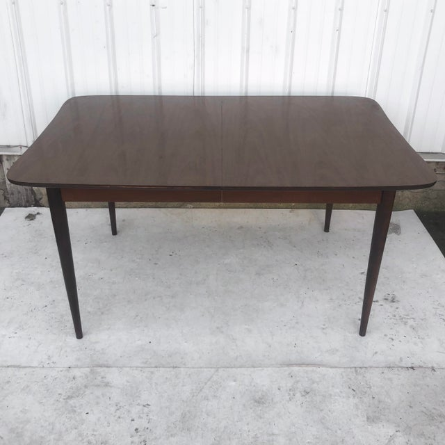 Mid-Century Dining Table With Leaf For Sale - Image 12 of 13