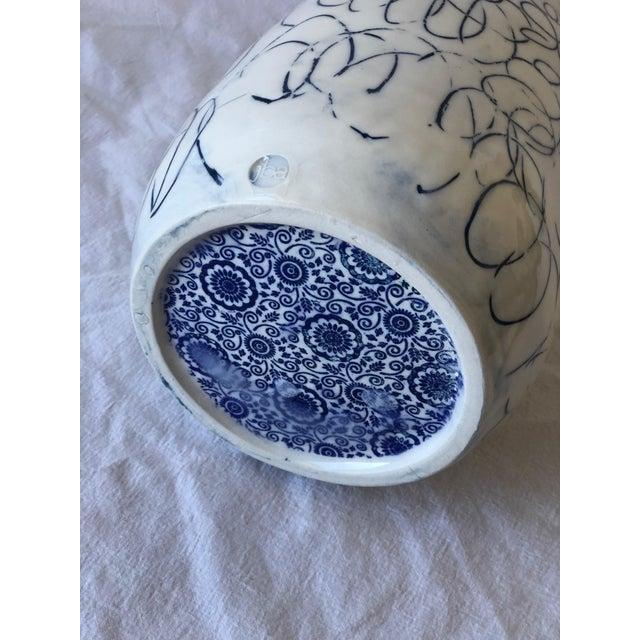 Cobalt Loop the Loop Vase For Sale - Image 4 of 5