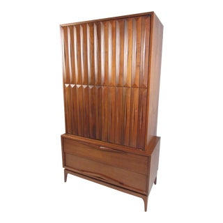 Impressive Mid-Century Modern Walnut Armoire For Sale