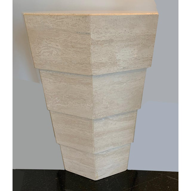 Italian Travertine Octagonal Table For Sale - Image 4 of 5