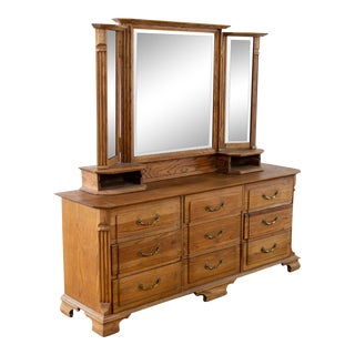 Wooden Dresser With Mirror For Sale