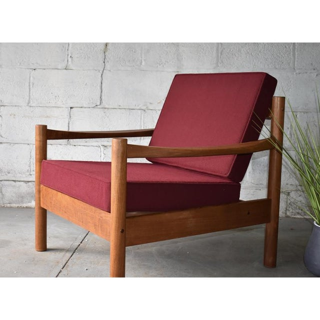1960s Mid Century Modern Teak Lounge Chair / Armchair For Sale - Image 5 of 9