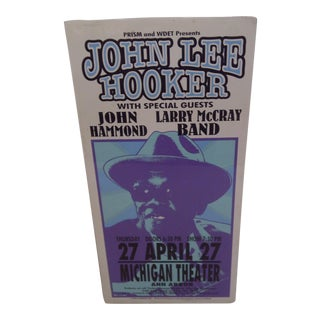 Vintage Concert Poster, John Lee Hooker For Sale