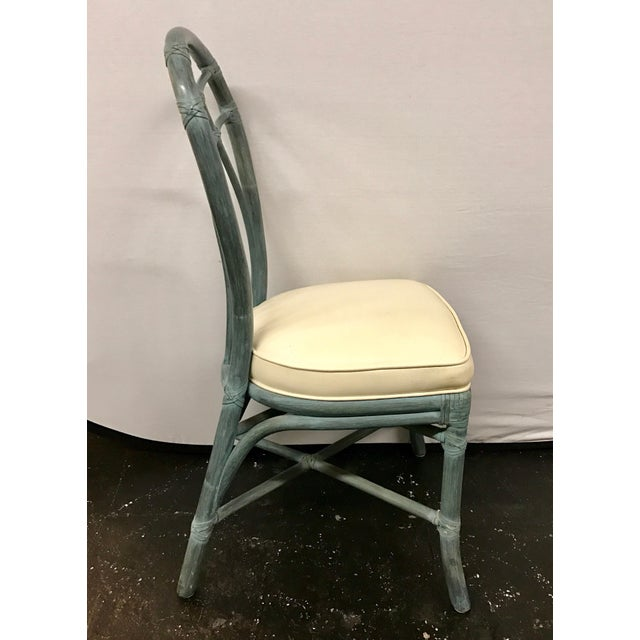 McGuire Vintage Signed McGuire Furniture Bamboo Dining Chairs - Set of 6 For Sale - Image 4 of 11