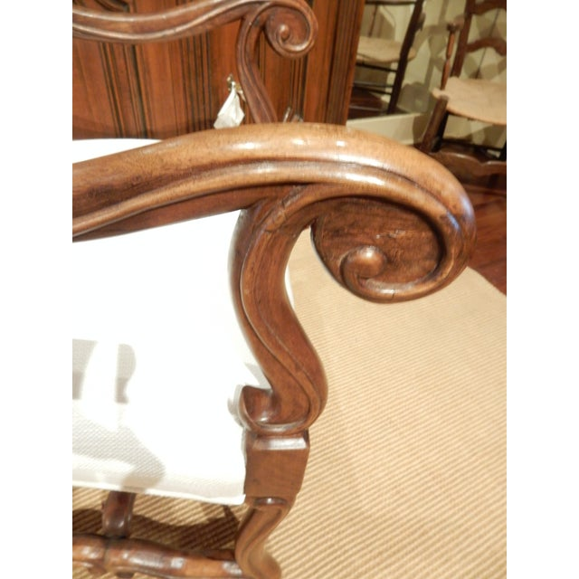 Brown Late 19th Century Italian Walnut Armchair For Sale - Image 8 of 9