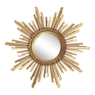 Giltwood Sunburst Mirror For Sale