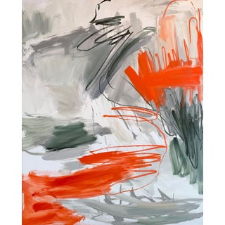 """""""Krakatoa 1"""" by Trixie Pitts Large Abstract Oil Painting For Sale"""