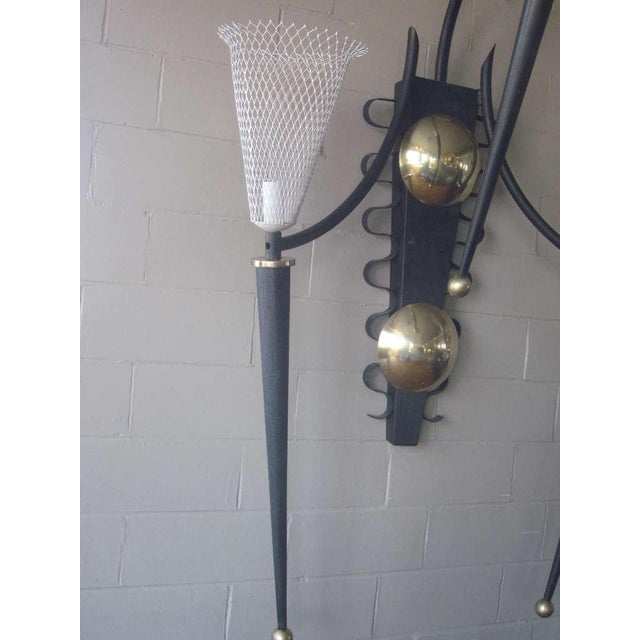 Mid 20th Century P. Marchand Monumental New York Theater Sconce In The Style Of Mategot For Sale - Image 5 of 7