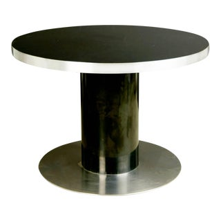 1960s Willy Rizzo Italian Modern Pedestal Dinette Table For Sale