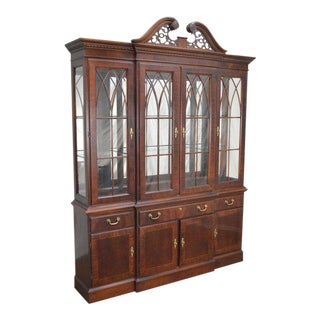 Chippendale Style Breakfront China Closet