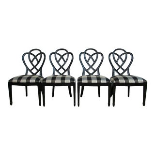 Ethan Allen Collectors Classics Dining Chairs - Set of 4 Ribbon For Sale