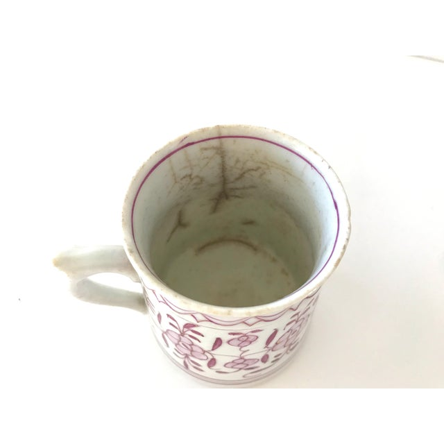 Metal Early 18th-Century Meissen Purple Indian Coffee Can For Sale - Image 7 of 10