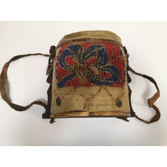 Dayak Kayan Borneo Beaded Basket Baby Carrier For Sale - Image 9 of 10
