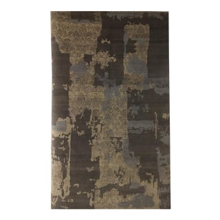 Wool and Silk Contemporary Rug - 5′10″ × 9′1″ For Sale