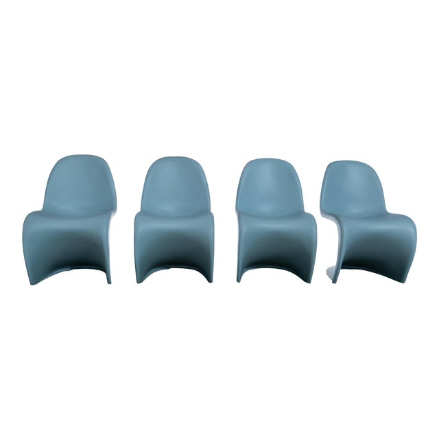 Vintage Mid Century Verner Panton Chairs - Set of 4 For Sale