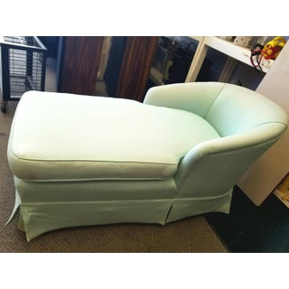 Mid-Century Modern Iridescent Light Green Chaise Preview