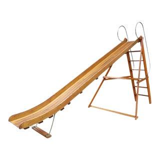 1940s Vintage Bent Wood Playground Slide For Sale