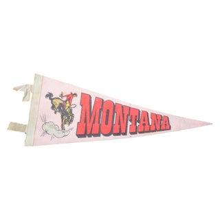 Vintage Montana Felt Flag Banner For Sale