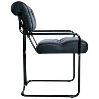 Rare Black on Black Tucroma Chair by Guido Faleschini for Pace Mariani