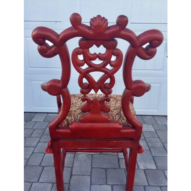 1940s Vintage Italian Renaissance Chair For Sale - Image 6 of 7
