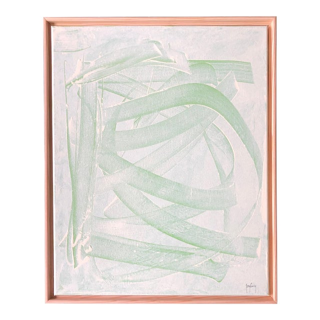 """Abstract """"Green Mirage"""" Modern Abstract Painting by Tony Curry For Sale - Image 3 of 3"""