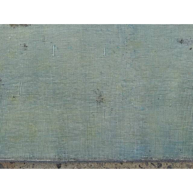 "Overdyed Distressed Persian Rug - 9' X 10'4"" - Image 4 of 10"